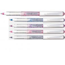 Ручка роллер, 0,6мм. UNI Mitsubishi Pencil (Япония) Роллер uni-ball FUSION  UB-161, чорнила троянда