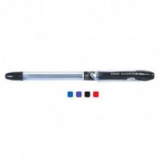 Ручка кулькова, масляна, 0,5мм. Piano Maxriter, PT-335, корпус прозорий, з гумовим грипом, чорні