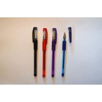 Ручка кулькова, масляна, 1,0мм., Ball Point Pen 501p,,  SG-200 проз корп. гумовий грип, чорнила сині