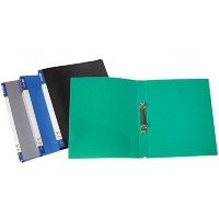 Папка пластикова  А4 на 2 кільця з внутрішним карманом, E30701 колір МІХ