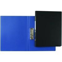 Папка пластикова з боковим притиском, А4, з внутришнім карманом синя, Clip-B, KL0110