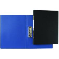 Папка пластикова з боковим притиском, А4, з внутришнім карманом чорна, Clip-B, KL0110-B