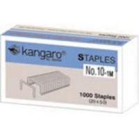 Скоби канцелярські №10 Kangaro в картонній упаковці 1000шт