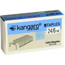 Скоби канцелярські №24/6-1М Kangaro в картонній упаковці 1000шт