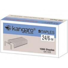 Скоби канцелярські №26/6-1М Kangaro в картонній упаковці 1000шт