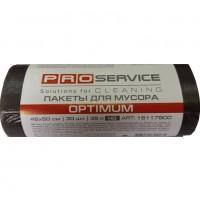 Пакет для смiття PRO  поліетиленовий 45*50 чорний HD 35л 30шт.Optimum