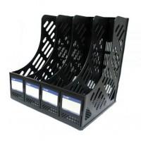 Лоток для паперів// вертикальний на 4 відділення зборний E31902-01 чорний