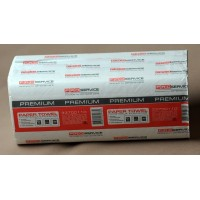 Рушник паперовий 2-шаровий целлюлозний Premium білі V-складання 160 аркушів 21*24см PRO