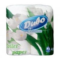 Туалетний папір 2-х шаровий, 130 відривів (93*115мм.) , 100% целюлоза, 4 рулони в упаковці Диво