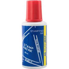Фарба штемпельна BUROMAX 30 мл, червона BM1901-03