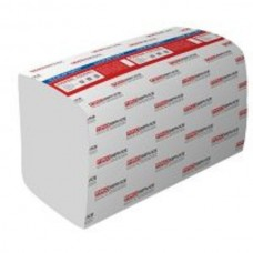 Рушник паперовий 2-шаровий целлюлозний Comfort білі V-складання 200 аркушів 21*24см PRO
