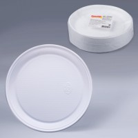 Тарілка плоская одноразова D205 мм 100 шт