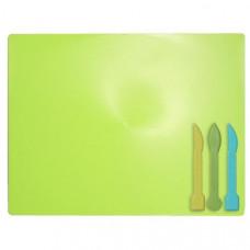 Дощечка для пластиліну зі стеками кольор синій ZB6910-15