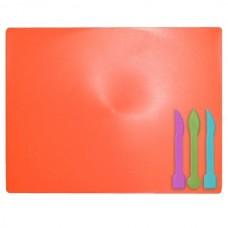 Дощечка для пластиліну зі стеками кольор кораловий ZB6910-27