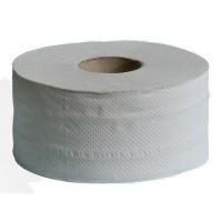 Туалетний папір джамбо 2-х слойна біла на гільзі 120м. велетень білий