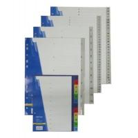 Розділювач пластиковий цифровий  А4 кольоровий 1-12 ВМ 3212