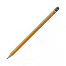 Олівець графітний 4B K-I-N,,корпус жовтий шестиграний загостренний HARDTMUTH 1500