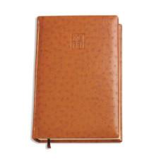 Щоденник не  датований А5  ostrich О25414-07, кремовий блок,  коричневий