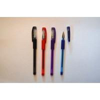 Ручка кулькова, масляна, 1,0мм., Ball Point Pen 501p,SG-200 проз корп. гумовий грип, чорнила ЧОРН