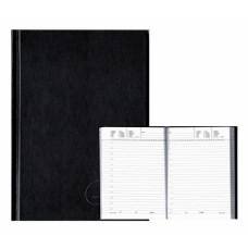 Щоденник не датований А5 160 аркушів вініл Аріан чорний