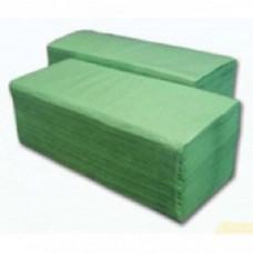 Рушник паперовий 1-шаровий макулатурний зелений V-складання 160 аркушів 23*25см z-Best ( в пластик)