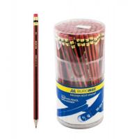 Олівець графітний НВ ВМ 8508 ,червоно-чорний З ГУМКОЮ