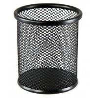 Підставка-склянка для ручок металева колір чорн BM6202-01