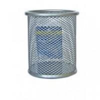 Підставка-склянка для ручок металева колір срібло BM6202-24
