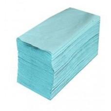 Рушник паперовий 1-шаровий макулатурний зелений V-складання 160 аркушів 23*25см Альбатрос,25 шт упак