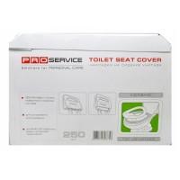 Накладки на сідіння унітазу гігієнічні однаразові паперові 1/2сложенія PRO31200100 250шт/уп