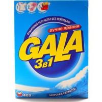 Пральний порошок Gala ( гала ) ручне прання 3в1 Свіжість конвалії 400г