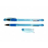 Ручка кулькова, 0,5мм.Fest Axent 1000 з гумовим грипом  синяя