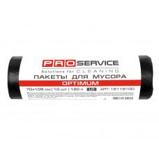 Пакет для смiття PRO поліетиленовий 70*105 чорний OPTIMUM 120л 10шт.