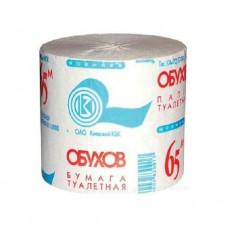 Туалетний папір 1-шарова макулатурний Обухов сірий 65 метрів (48 в уп.)