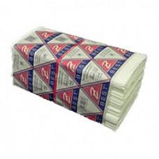 Рушник паперовий целюлозний 2-х шаровий V-складання,білий,  Z-Best