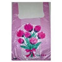 Пакети поліетиленові 30*50см майка Квіти 100шт