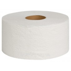 Туалетний папір на гільзі d19см 2-Х Шаровий  Джамбо білий Z-Best ( 150м.)