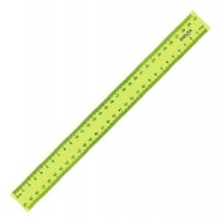 Лінійка пластикова 30 см , Axent 9800-01колір жовта, блакитна, зелена