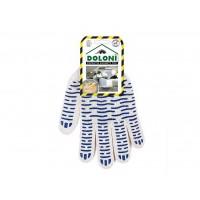 Рукавички трикотажні з крапкою ПВХ DOLONI 646 10 клас,розмір 10 сині