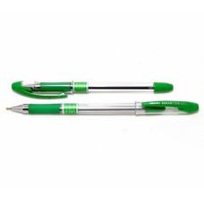 Ручка кулькова, масляна, 0,5мм. Piano Maxriter, PT-335, корпус прозорий, з гумовим грипом, зелені