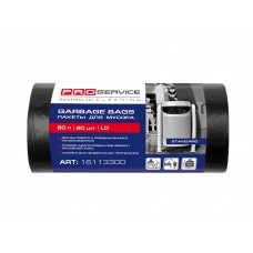 Пакет для смiття PRO поліетиленовий 60*80 ЧОРНИЙ HD 60л 20шт.