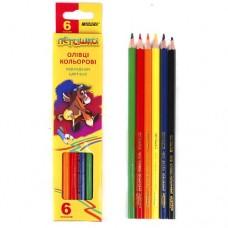 Олівці  6 кольорів (набір)
