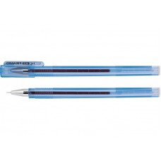 Ручка гелева, 0,5мм., E11913-02, прозора, PIRAMID, чорнила сині