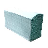 Рушник паперовий 1-шаровий макулатурний зелений V-складання 160 аркушів 23*25см z-Best
