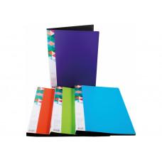 Папка пластикова з швидкозшивачем А4 з пружинним механизмом Clip-A колір асорті optima
