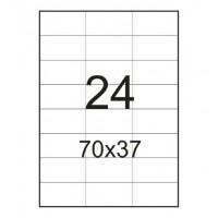 Етикетка самоклейна А4 70*37,мм ,24 яч 100арк (синьо- червона упаковка)
