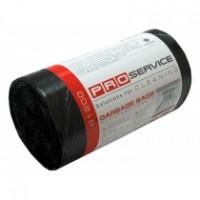 Пакет для смiття PRO поліетиленовий 51*53 з затяжками чорні 35л 15шт.