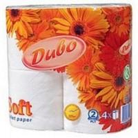 Туалетний папір 2-х шаровий, Soft 150 відривів (98*115мм.) , 100% целюлоза, 4 рулони в упаковці Диво