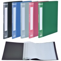 Дисплей-книга А4 пластикова на 20 файлів колір зелений BM3605