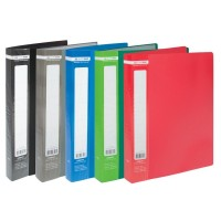 Дисплей-книга А4 пластикова на 40 файлів колір асорті ВМ3616
